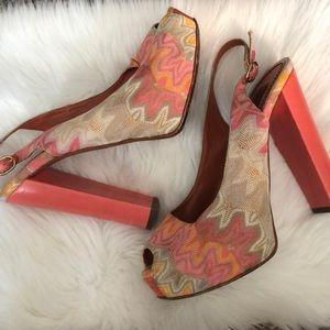 Missoni Shoes - Missoni pink and orange heels - size 37